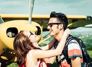 Romantický let letadlem