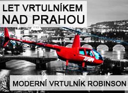 Let vrtulníkem nad Prahou pro 1 osobu