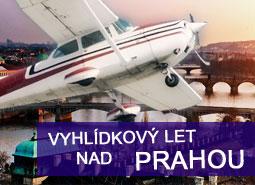 Vyhlídkový let nad Prahou na 30 minut pro 1 osobu