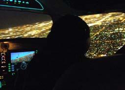 Noční let nad Ostravou 30 minut pro 1 osobu.
