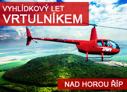 Vyhlídkový let vrtulníkem na Říp 15 minut pro 1 osobu.