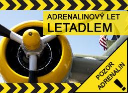 Adrenalinový let letadlem: 20 minut pro 1 osobu